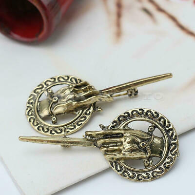 2x Game of Thrones Hand of the King Suit Shirt Bronze Brooches Pin Men Women
