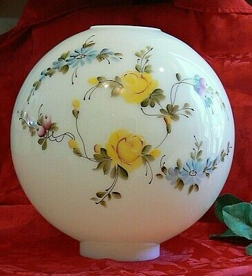 GWTW Antique Gone with the Wind Oil Lamp Ball Globe Shade Hand Painted Victorian