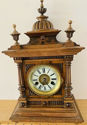 "The ""Greenwich"" Time and Strike Antique Mantle Clock by W.E. Watts, Nottingham"