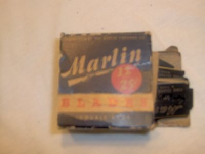 Double Edge Safety Razor Blades Vintage Marlin Firearms Approx 70 NOS IOB