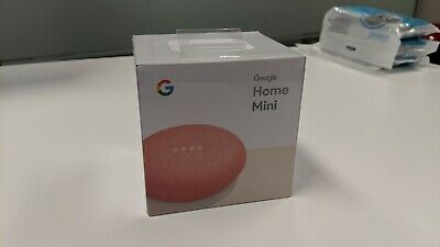 Google Home Mini Smart Assistant (Coral) BRAND NEW, SEALED