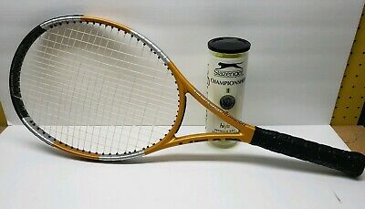 HEAD Liquidmetal Instinct MP Tennis Racquet Excellent 4 1/2 w/ Can Of Balls