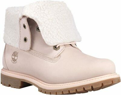 015879a52c573 TIMBERLAND WOMEN'S AUTHENTICS TEDDY FLEECE FOLD DOWN Shearling lined lace up  8.5