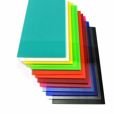 1PC Color Acrylic Sheet Plate Plastic Plexiglass Panel Sheet DIY 15x15cm 10x20cm
