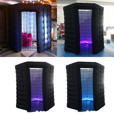 2.5M Inflatable LED Light Photo Booth Tent Single Door Party Birthday Wedding US