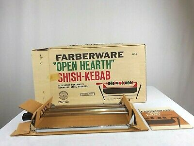Farberware Open Hearth Rotisserie Shish-Kebab Set Stainless Steel Accessory #455