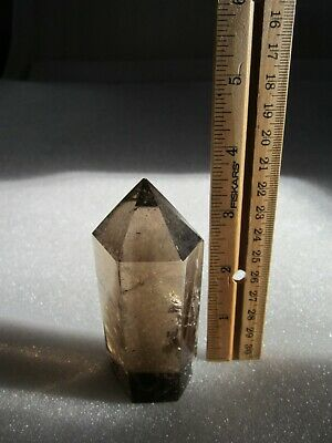 "Natural Unheated Smoky Quartz Tower Large Crystal Point 4""x 1 1/2"""