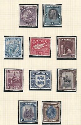 Cyprus  1928    S G 123 - 132  Set Of 10  Mh  Cat £350
