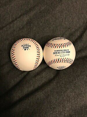 (2) TWO 2019 MLB Official All Star Game Baseballs Cleveland Brand New ..