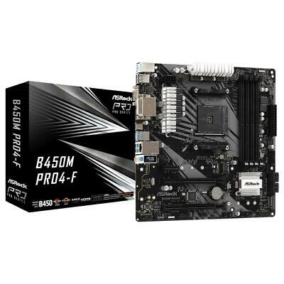 ASRock B450M Pro4-F AMD AM4 mATX Gaming Motherboard M.2 USB 3.1 HDMI