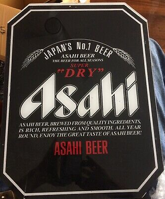 Vintage ASAHI Super Dry Japanese Perspex Beer Sign - Authentic - Man Cave