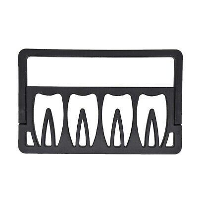 Endodontic Root Canal File Holder Box Disinfection Rack Black 8-Hole Dental