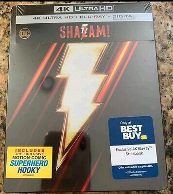 Shazam! (Shazam) [Steelbook] [2019] (4K Ultra HD + Blu-ray)