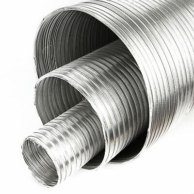 Aluminium Flexible Pipe Alloy Air Ducting Tube Heat Resistant Hose Ø 75-250mm
