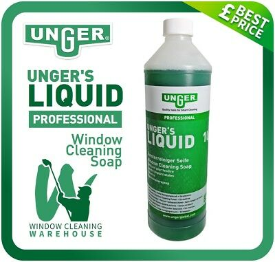 Unger's Liquid Professional 1 litre Window Cleaning Soap Water Additive Unger