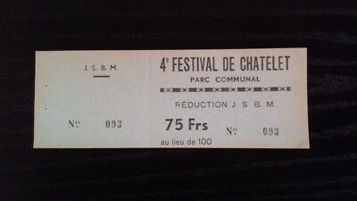 RARE+1965+Claude francois+ticket stub+ticket concert+The Animals+Michèle Torr