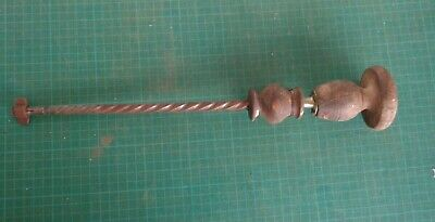 Vintage hand powered drill, archimedes or ratchet type action, no bits included