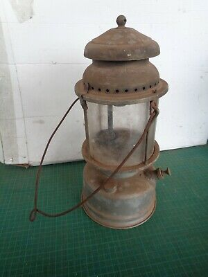 Vintage kerosene lamp with glass  ALADDIN