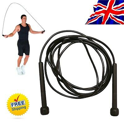 Cardio, Speed Skipping  Rope 9Ft Long Fitness Boxing Fast Jump Gym Training