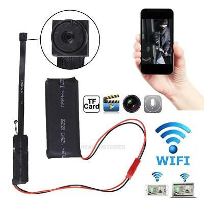 Inalámbrico Cámara Espía Niñera Micro Mini DVR Wifi IP Alfiler DIY Digital de