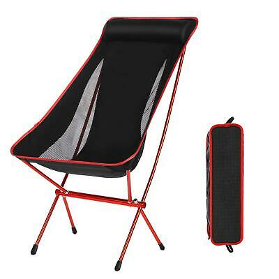Portable Camping Chair Folding Director's Chair Angler Fishing Chair Aluminum UK