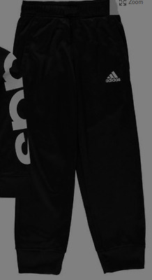 adidas Poly Tracksuit Bottoms Only  Junior Girls  Black Size 7-8 Years *27