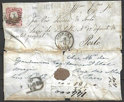 Portugal 3 Covers 1858.- 61,- 64  Mixed Condition - Lot To Study