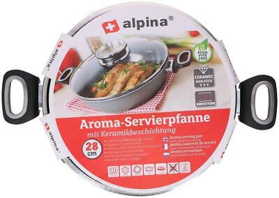 Aroma serving pan with glass lid 28cm