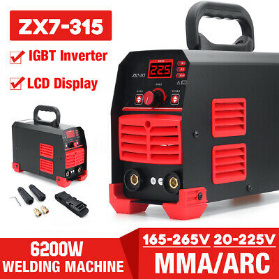 6200W ARC 225Amp Stick Welder DC Inverter MMA Welding Machine IGBT Portable Tool