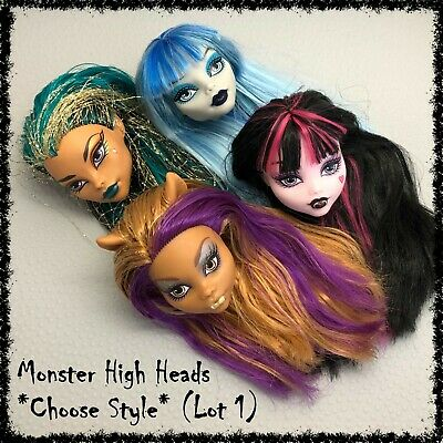 MONSTER HIGH Doll Head, Spares, Restyle, OOAK ~SELECT STYLE~ 1 incl. (Lot 1)