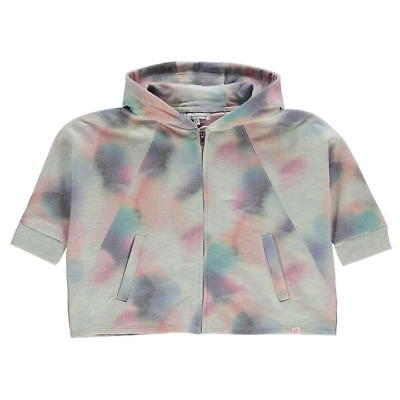 French Connection FCUK Girls French Faded Print Jacket Hoodie Zip Age 8-9 *7