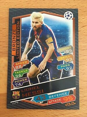 Match Attax Champions League 2016/17 Lionel Messi Bronze Limited Edition