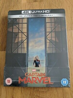 Captain Marvel 4K Ultra HD + Blu-ray Steelbook - New & Sealed
