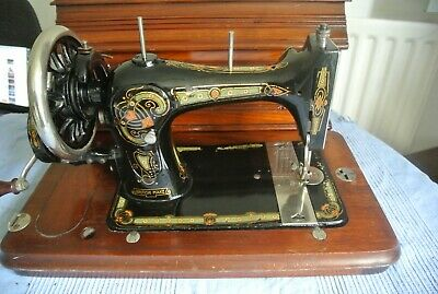 Bradbury's Vibrating Shuttle Family Vintage Handcrank Sewing Machine