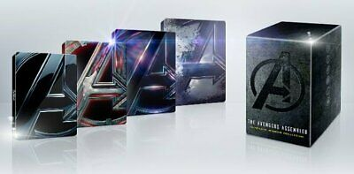 The Avengers Assembled 4-Movie Best Buy Steelbook Collection (Blu-ray 4K) PREORD