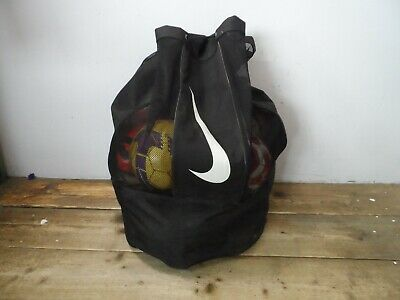 Nike Sports Football Rugby Ball Sack Bag with Football Rugby Balls  55A
