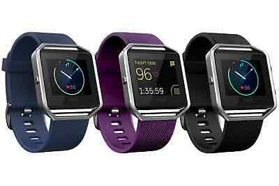 Fitbit Blaze Fitness Watch Smartwatch Activity Tracker Blue, Black, Plum - Large