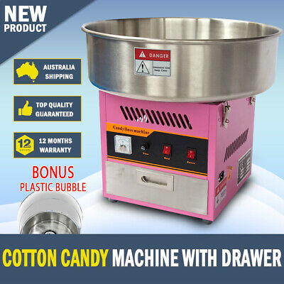 NEW Cotton Candy Floss Machine Fairy Floss Machine with Drawer