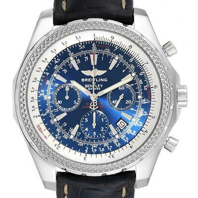 Breitling Bentley Motors Blue Dial Chronograph Watch A25362 Box