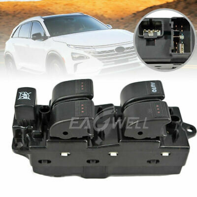 GJ6A-66-350A Front Right Driver Master Power Window Switch For 2003-05 Mazda 6