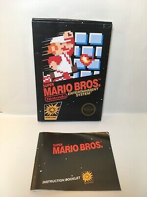 SUPER MARIO BROTHERS NES Nintendo Entertainment System - Box & instructions only