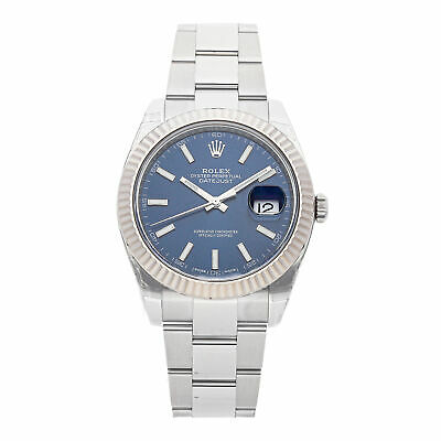 Rolex Datejust 41 Auto Steel White Gold Mens Oyster Bracelet Watch 126334