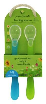 Green Sprouts - Feeding Spoons 6-12 Months Aqua - 2 Pack