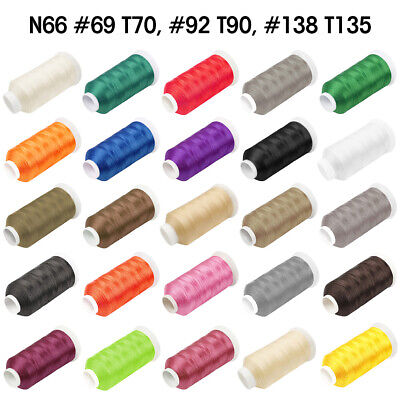 700-1500Yard Nylon Bonded Sewing Thread N66 #69 #92 #138 for Canvas Shoe Leather