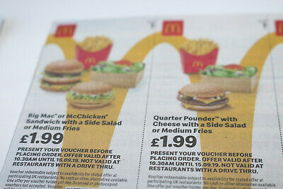 McDonalds Food Vouchers 40x [15.09.19]