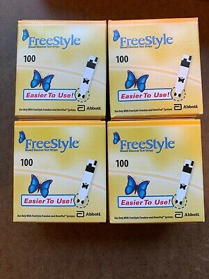 Lot Of 400 Freestyle Blood Glucose Test Strips  Exp 7/2020