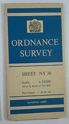 1959 old OS Ordnance Survey 1:25000 First Series Prov Map NY 30 Ambleside