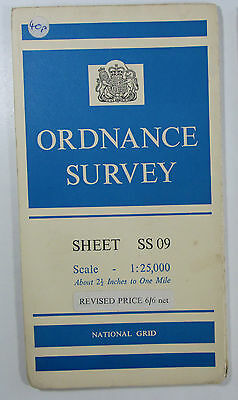 1960 Old Vintage OS Ordnance Survey 1:25000 First Series Map SS 09 Manorbier
