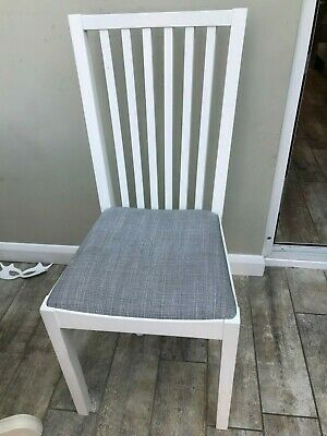 Fabulous 4 X Ikea Dining Chairs Grey Stone Coloured Covers Wooden Leg Pdpeps Interior Chair Design Pdpepsorg