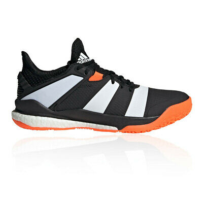 adidas Mens Stabil X Indoor Court Shoes- Black Sports Tennis Handball Breathable